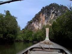 Krabi Province, Southern Thailand (alex.DC) Tags: cameraphone samsung krabi longtailedboat mangroveforest limestonecliffs