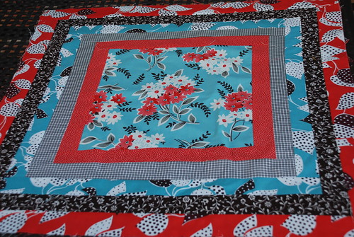 Blue, Red & Aqua Quilt Blocks by you.