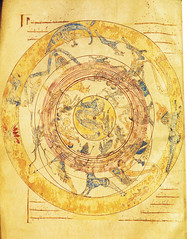 Map of heaven with zodiac (petrus.agricola) Tags: signs circle himmel atlas zodiac zodiaque zodiaco burgodeosma 12thcentury zodiacsign tierkreiszeichen signatur7 bibliotecadelacatedral mtulciceronis somniumscipionis folio92v mapofheaven