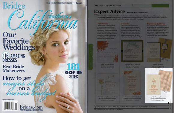 Smock's Aberdeen is in Brides Southern California magazine!