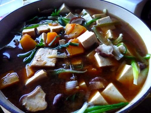 pumpkin miso soup i