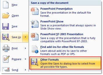 PowerPoint presentations to video