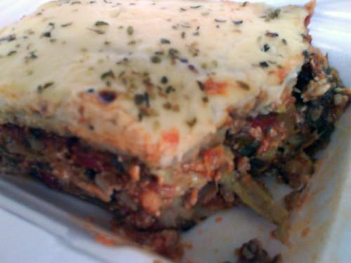 All veggie eggplant lasagna