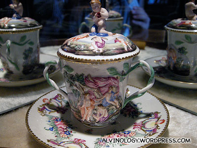 Cup with many angels and fairies