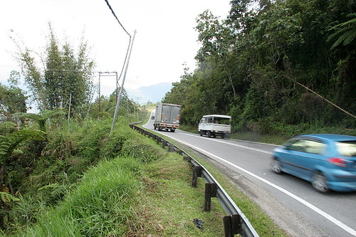On the Road to Mt Kinabalu