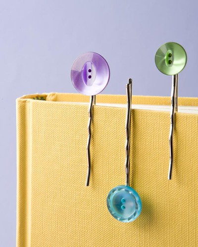Button Hairclips at Powell's