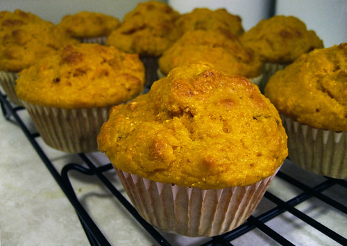 Bacon and pumpkin muffins