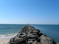 jetty1 (stormmie) Tags: ocean family tower beach ferry trash jetty nj litter capemay dike higbeesbeach