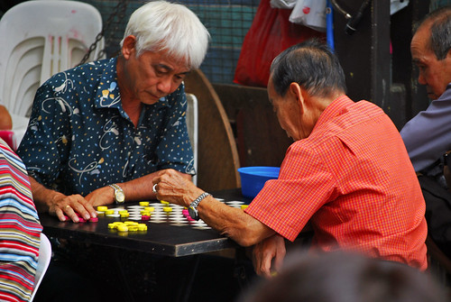 old chess men
