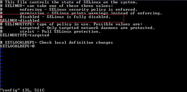 centos disable selinux