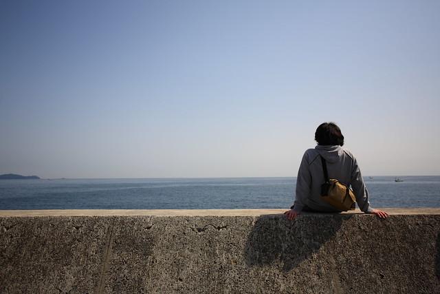 海と空と堤防