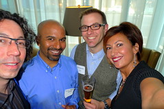 Mark de la Vina (Consort), Sunil Vemuri (reQall), Chris Bauman (Swoopo), Kathy Johnson (Consort Partners)