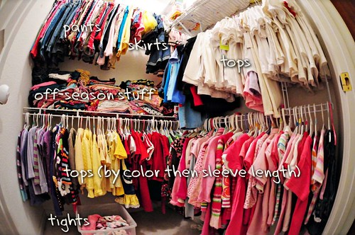 The girls' closet
