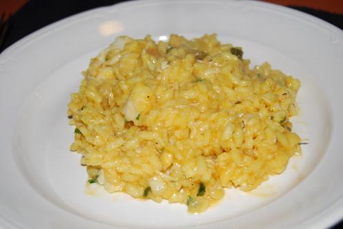 risotto met vis en saffraan