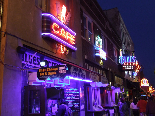 Neon Lights on Beale St, Memphis, TN