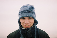 (MilkyAir) Tags: winter boy portrait man film analog iso200 polska cap praktica mlt3 milkyair