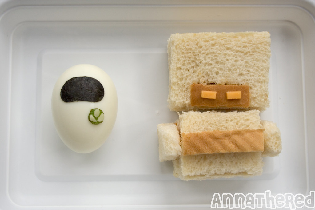 Pixar wall-e bentoEVE egg (with Plant!) & MO Peanut butter sandwich by ...