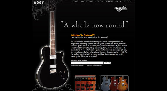 Ovation VXT Website