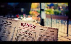 King's Fish House (isayx3) Tags: wednesday menu outdoors nikon bokeh 28mm sigma seafood oysters resturant macadamia f18 d3 halibut alaskan crusted kingsfishhouse hbw