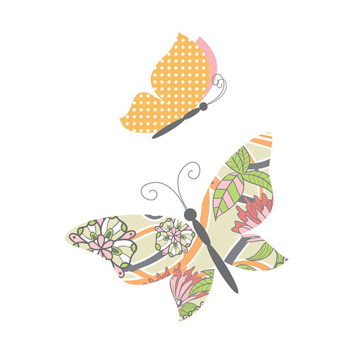 Patchwork Butterflies - Printable Note Cards, Gift Tags and Stationery ...