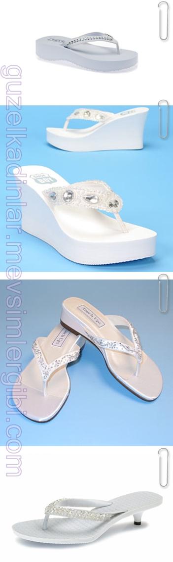 gelinlik ayakkabıları gelin ayakkabısı gelin terlikleri beyaz terlikler modelleri resimleri