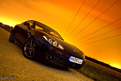 Hyundai Coupe TS3 At Night Sky On Fire (NWVT.co.uk) Tags: light sky orange black car night digital canon painting fire photography eos 350d crazy long exposure colours different photographer shot angle dusk top rules automotive professional portsmouth pan hyundai coupe freelance intensive on at ts3 nwvtcouk nwvt
