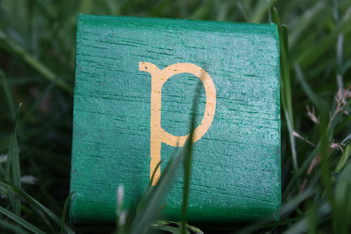 Green P in the grass