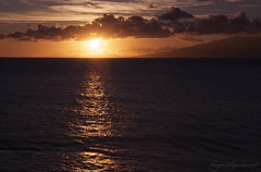 Island of the Sun (lucy*d) Tags: ocean sunset sky sun clouds hawaii horizon maui pacificocean f11 molokai clich sowhat nohdr