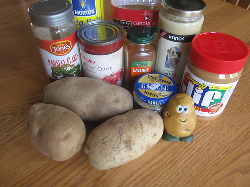 Ingredients for Potato-Peanut Curry