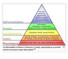 hierarchy of needs and behaviorist theories The theories of abraham maslow and  as the behaviorist  etc maslow asserts that this is the highest level in a hierarchy of needs and only when all.