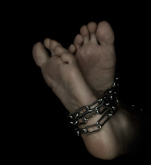 Feet in chains (PM van Til) Tags: feet dark chains nikon bound voet ketting d90 duister