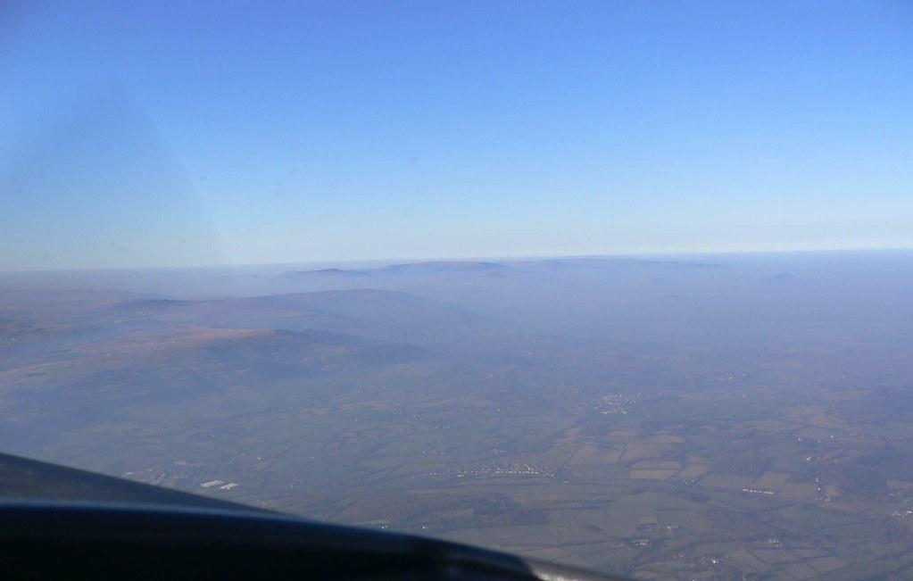 Flying Towards The Breacon Beacons