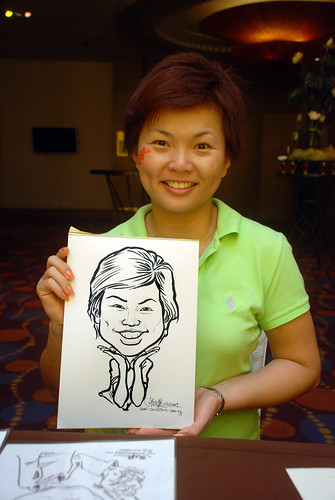 Caricature live sketching for Standard Chartered Bank - 12