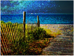 .. a night at the beach .. (xandram) Tags: texture beach photoshop fence ct longbeach grasses legacy theunforgettablepictures awardtree daarklands sailsevenseas
