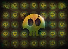 Skull Style - Mudis (Rafatoon) Tags: green collage photoshop skull design colombia style vector tunja mudis rafatoon