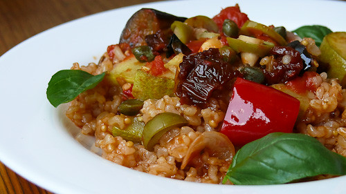 vegetables basil savory brownrice provencal maindish frenchcuisine рецепта зеленчуци ястие прованс босилек френскакухня солено кафявориз