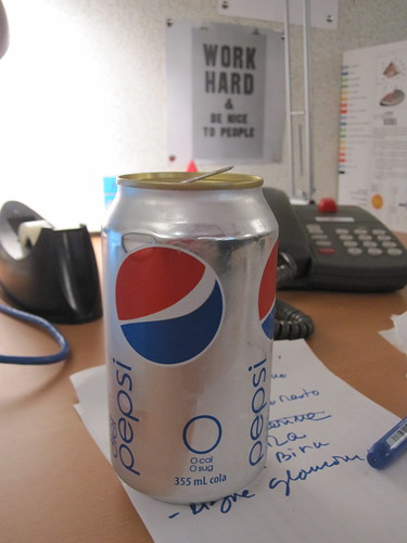 Diet Pepsi from the vending machine - $1.25