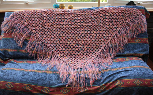 Completed shawl