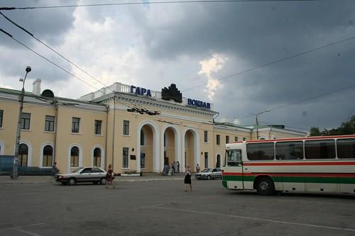 Estação principal de comboios em Tiraspol na Pridnestróvia