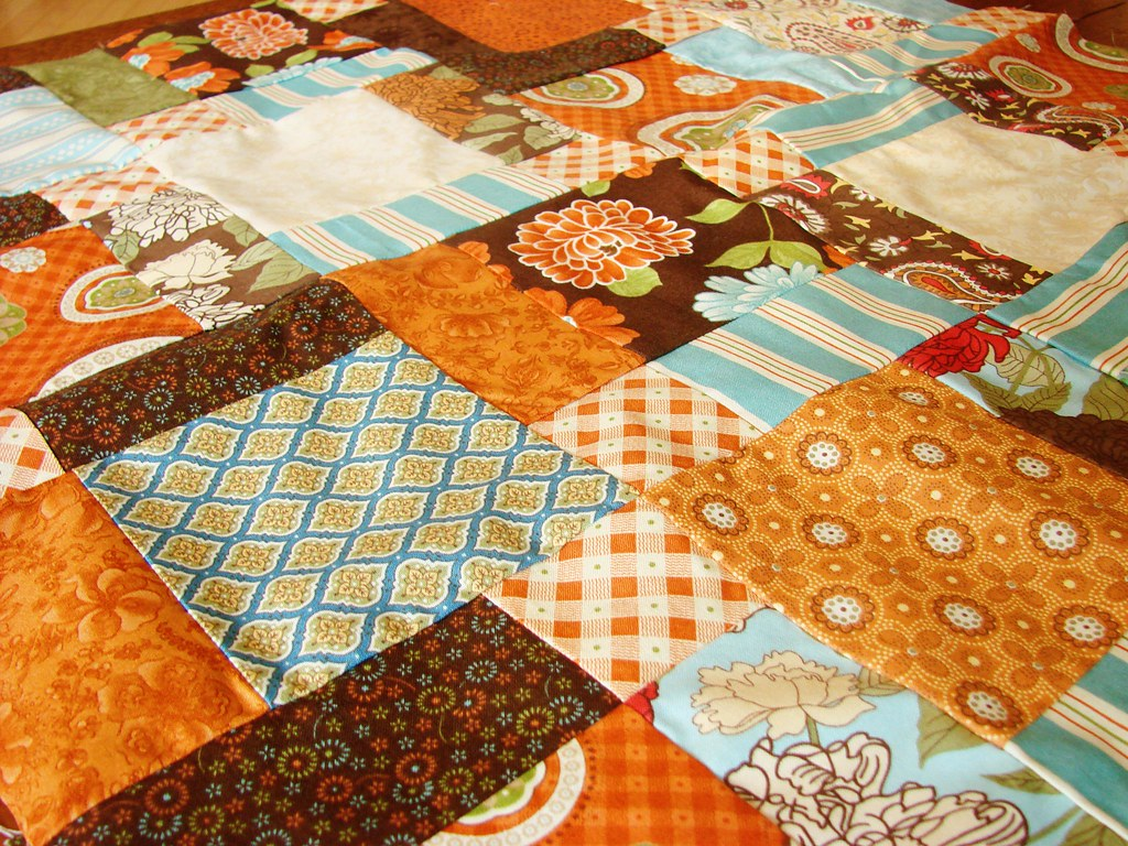 Autumn Table Topper, unquilted