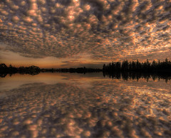 Sunset Squared (ecstaticist) Tags: sunset sky panorama cloud canada nature water creek canon flood simulation columbia victoria powershot explore filter pear british frontpage flaming elph tillicum spectacle mammatus upsampled orizon colquitz sd1000