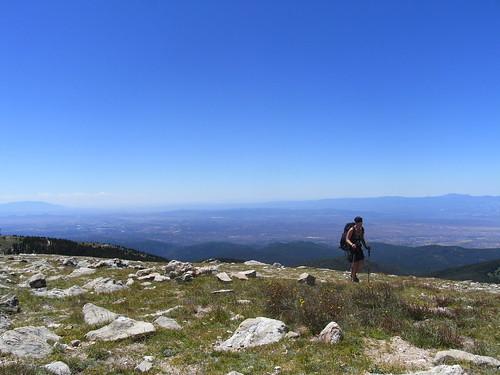 Ann arriving on Deception Peak