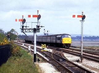 Class 45 45007 Dawlish warren 1/5/82