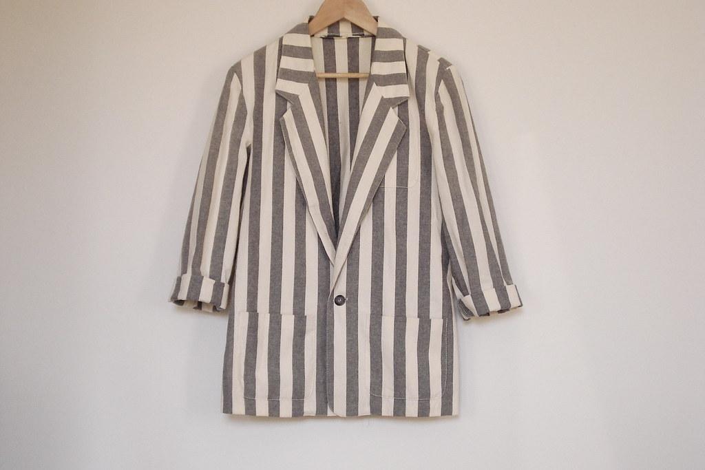 vintage vertical stripe blazer