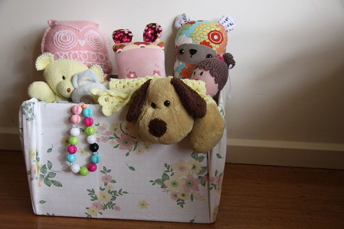 Fabric covered toy box...