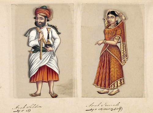 001-Soldado arabe y su mujer-Seventy two specimens of castes in India 1837