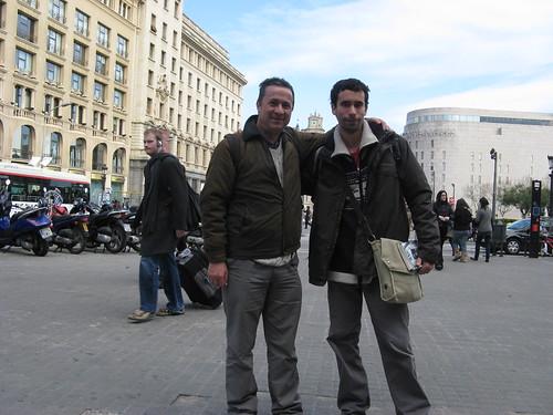 Eu com o Jorge Sanchez em Barcelona