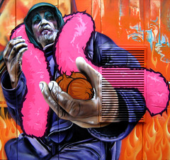 Aalst (SmugOne) Tags: street man guy art festival wall real drag graffiti photo 3d m