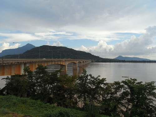 The Bridge over the Mekong at Pakxe