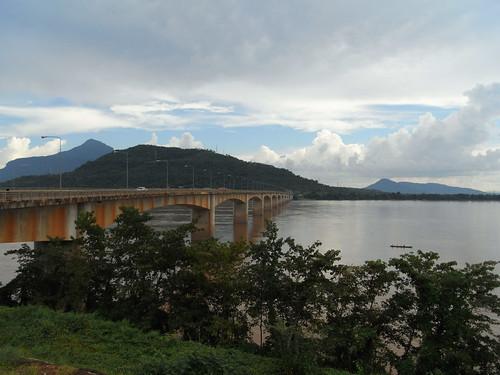 The Bridge over the Mekong at Pakxe